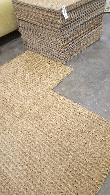 commercial grade rubber backed carpet tiles    bid