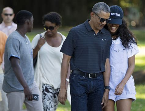 barack obama gets a sneaky visit from daughter sasha in the latest obamas leave hawaii for washington daily