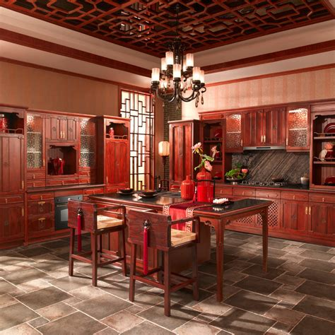 antique red kitchen cabinets china antique chinese red solid wood kitchen cabinets