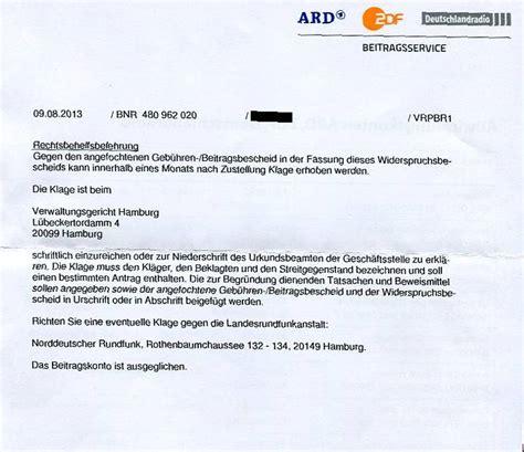 Rundfunkbeitrag Auto by Gez Musterschreiben Bernd H 246 Cker Erste Erfolge Gegen