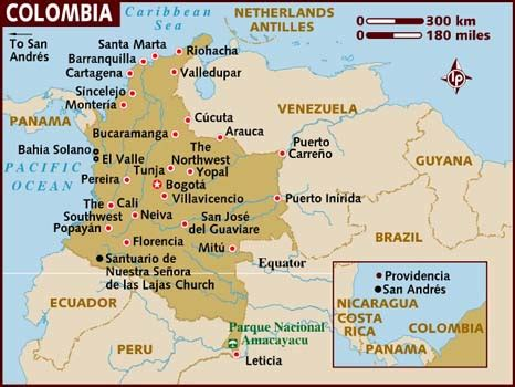 map of colombia in south america aqspees february 2012