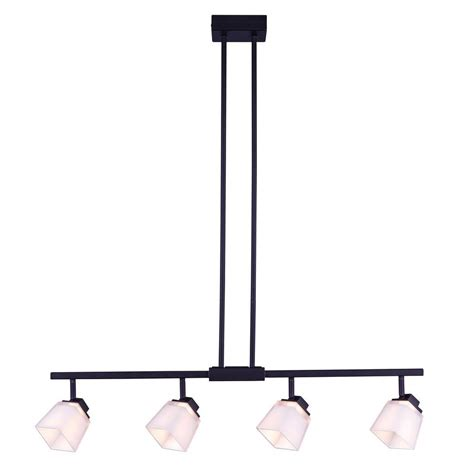 Hton Bay Track Lighting Fixtures Hton Bay 4 Light Antique Bronze Directional Led Island Track Lighting Fixture With Square
