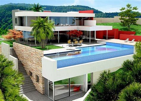 cool houses with pools house via tumblr image 2824734 by ksenia l on favim com