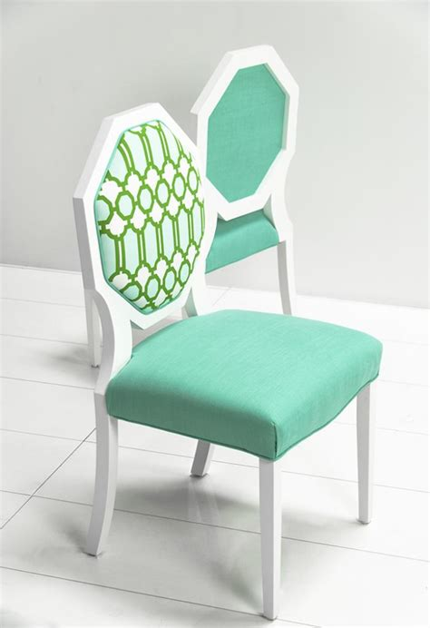 Mint Chair www roomservicestore octagon dining chair with mint lattice fabric