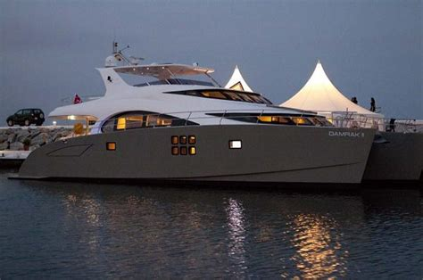 catamaran vs motor yacht 70 sunreef power damrak ii mediterranean premiere in