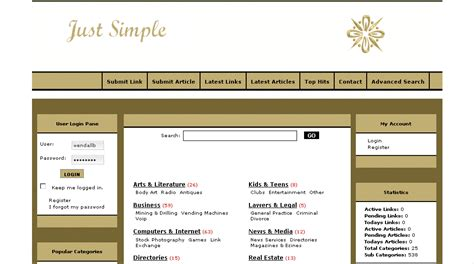 simple php templates free just simple v 4 2 template