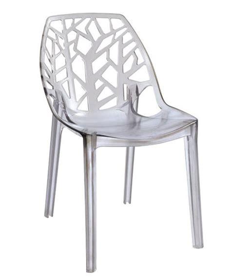chaise de cuisine transparente chaise de cuisine design