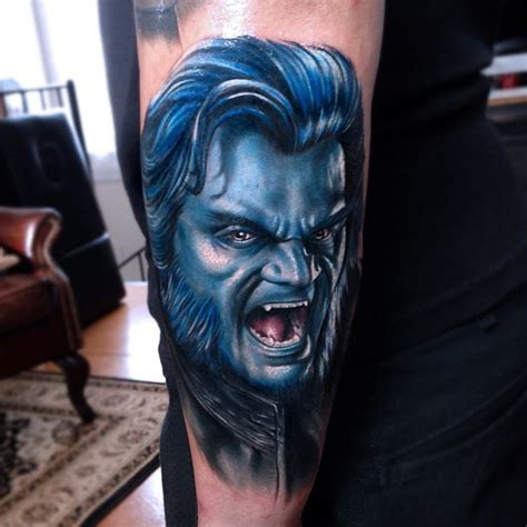 x men tattoos beast on right arm