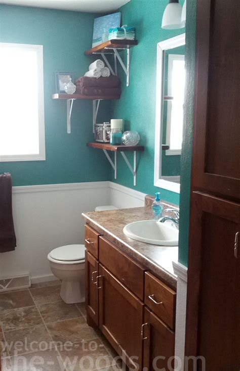White And Teal Bathroom How To Create Flow In Home Design Welcome To The Woods