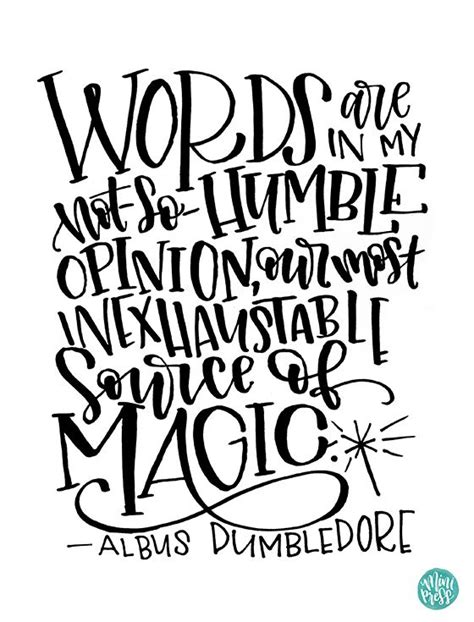 printable dumbledore quotes instant download dumbledore quote words in my not so