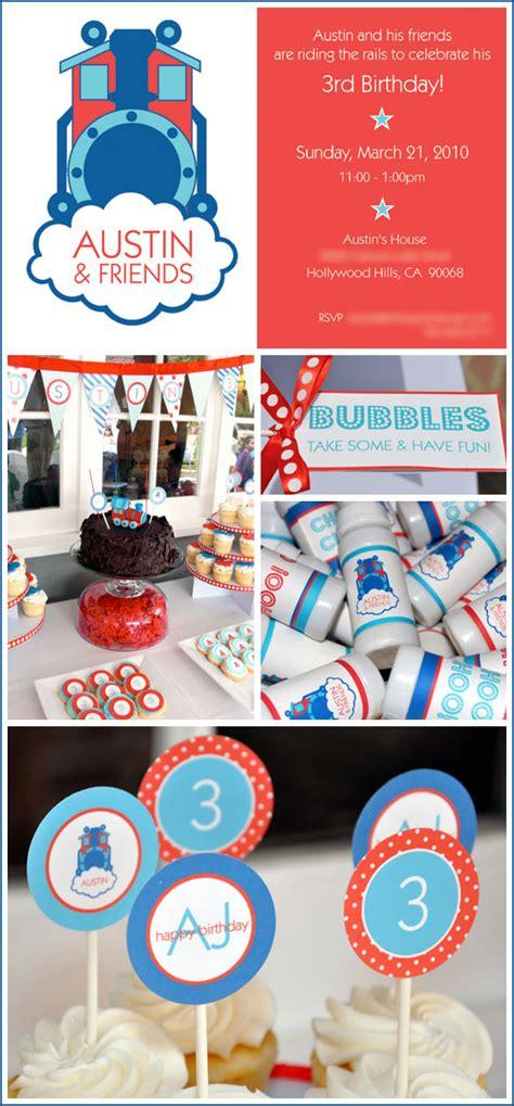 real party thomas  train birthday  cake blog