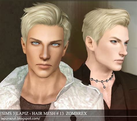 sims 3 custom content male hair my sims 3 blog lapiz lazuli zombrex and cupcake hairs for