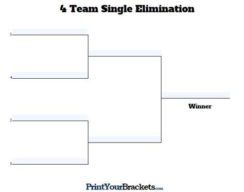 printable 4 name baby girl tournament bracket fillable seeded 4 team tournament bracket editable bracket