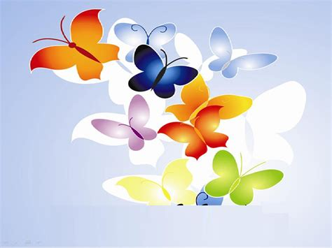 butterfly multi color ppt template butterfly multi color