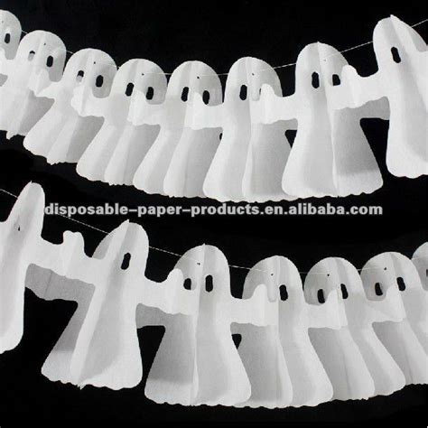 How To Make Paper Ghost For - de decoraciones de papel fantasma blanco de