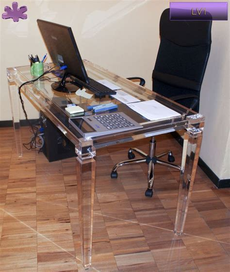 scrivania plexiglass 18 best acrylic writing desks scrivanie in plexiglass