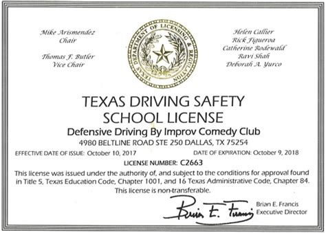 safe driving certificate template defensive driving defensive driving course