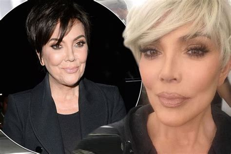 kris jenner blonde hair kris jenner dyes hair blonde to match daughters kim and