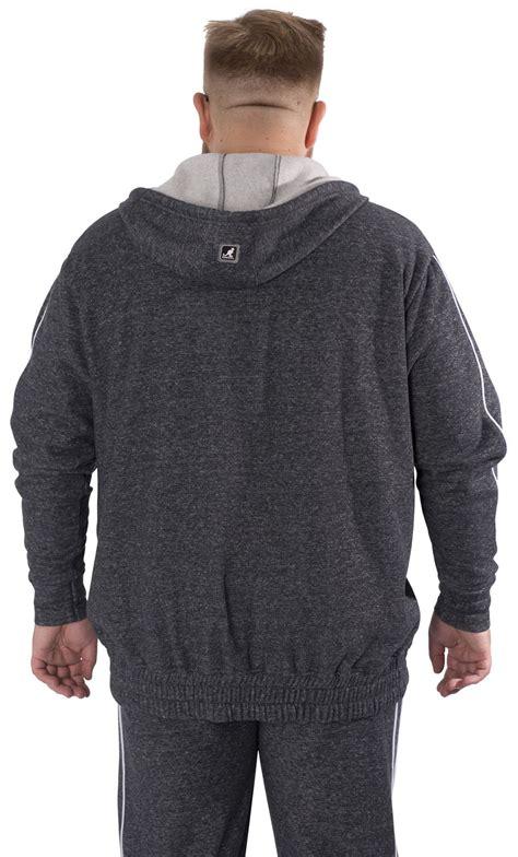 kangol big mens plus king size hooded jacket hoody zip up hoodie coat 2xl 5xl