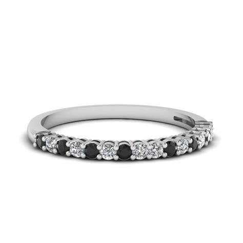 Wedding Bands With Black Diamonds by Black Basket Prong Anniversary Band In 950