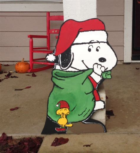 snoopy yard yard wooden cut out by