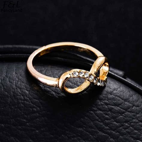 rose gold ring fashion jewelry silver 8 shaped wedding