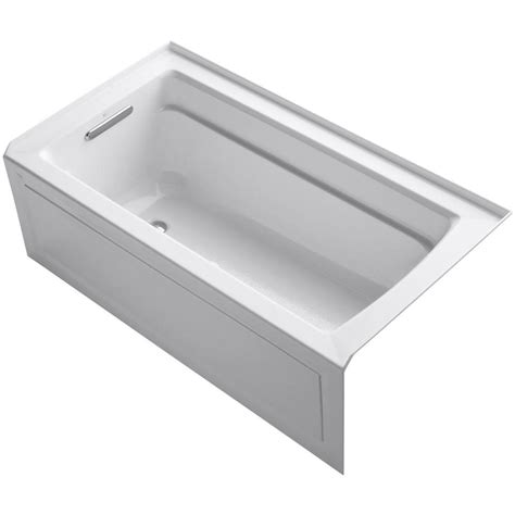 alcove whirlpool bathtub kohler villager 5 ft cast iron right hand drain
