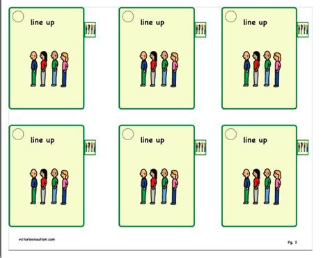 printable cue cards 17 best images about activities for autistic children on