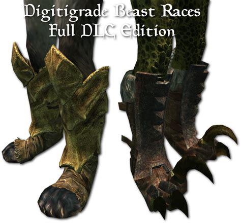 argonian and khajiit digitgrade with sos body texture at digitigrade beast races full dlc edition at skyrim nexus