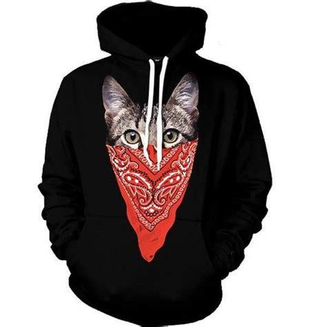 bandana design hoodie silent cat bandana pattern gangsta mexican style design