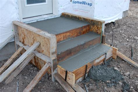 How To Build Concrete Steps build concrete steps for your storage shed or studio shed