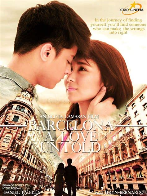 barcelona a love untold movie pinoyistics kathniel s new film s final title quot barcelona