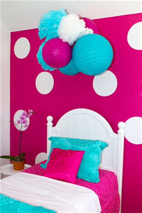 hot pink and blue bedroom two blue ribbon awards