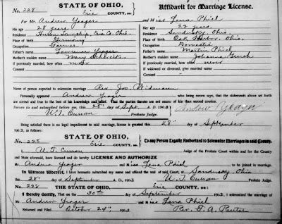 Erie County Marriage Records Ohio Graveyard Rabbit Of Sandusky Bay Marriage Records In