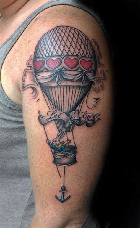 hot air balloon tattoo designs vintage air balloon design of tattoosdesign
