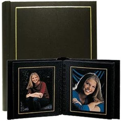 Professional Matted Wedding Albums by Professional Parade Black Gold Slip In Mat
