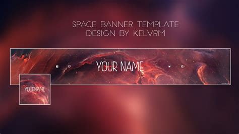 you tine space youtube banner template kelv designs sellfy