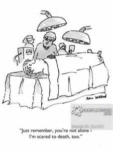 cartoons und karikaturen mit chirurgen