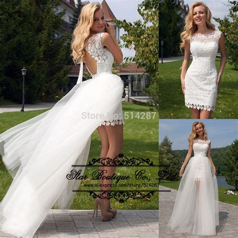 mini skirt wedding dresses popular wedding dresses removable skirt buy cheap wedding