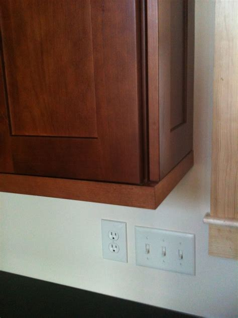 cabinet light rail moulding authentic end panel on wall cabinet w shaker light rail