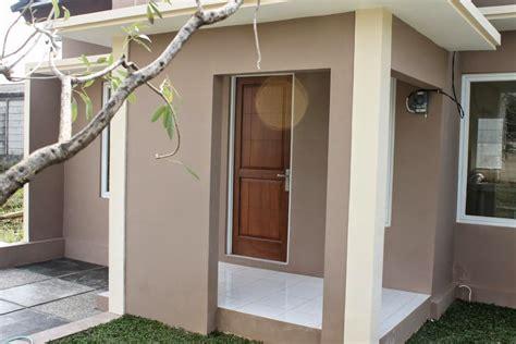 inspirasi contoh warna cat teras rumah