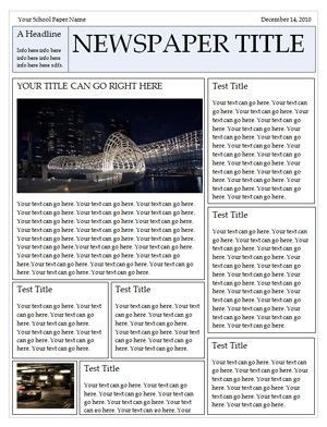 Newspaper Template Awesome Make A Family Newspaper Family Pinterest Newspaper And School Newspaper Newsletter Template