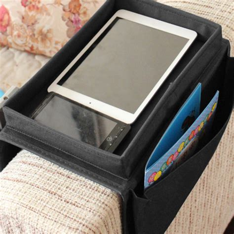 sofa caddy organizer 6 pocket couch buddy remote control holder sofa arm rest