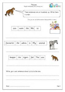 the zoo year 1 2 english worksheet for key stage 1