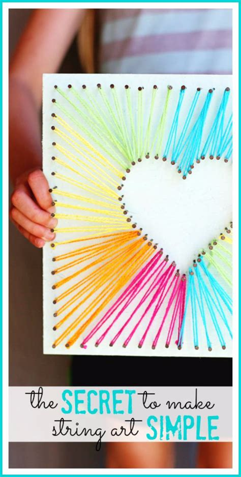 String Arts And Crafts - 40 insanely creative string projects diy projects