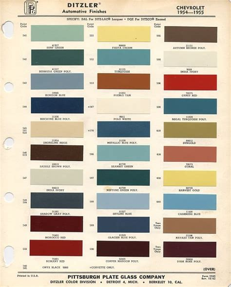 thats right official color code paint thread pics needed trifive 1955 chevy 1956 chevy