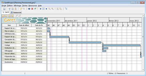 rétro planning et diagramme de gantt xls ganttproject wikiwand
