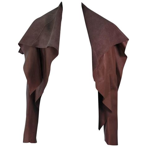 drape jackets for sale rick owens brown lamb leather drape jacket with pleated