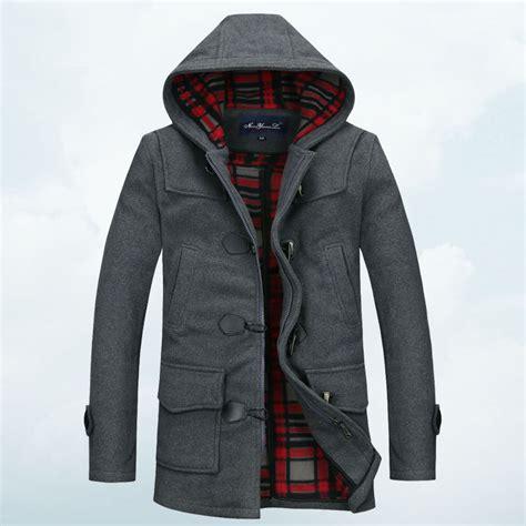 Pea Coat Winter Coat Trench Coat Jacket Coat Coat Pria Blc 8 2014 single breasted hooded mens trench coat s pea coats windbreaker winter black gray
