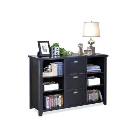 Black Bookshelf With Drawers Bookcase Bookshelf Furniture 3 Drawer Wood File Storage